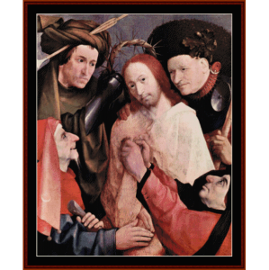 christ crowned with thorns - bosch cross stitch pattern by cross stitch collectibles