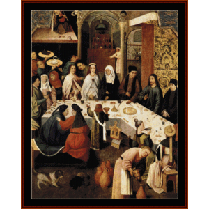marriage feast at cana - bosch cross stitch pattern by cross stitch collectibles