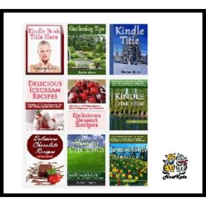 25 unique, easily editable flat ebook cover templates for amazon kindle!