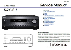 integra drx-2.1 7.2 channel network a/v receiver service manual