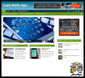wordpress / create mobile apps blog - includes web hosting on our namecheap server
