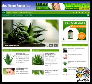 wordpress / aloe remedies plr blog - includes web hosting on our namecheap server