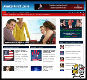 wordpress / american accent turnkey blog - includes web hosting on our namecheap server