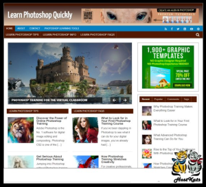 wordpress / learn photoshop plr blog - includes web hosting on our namecheap server