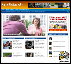 wordpress / digital photography niche blog - includes web hosting on our namecheap server
