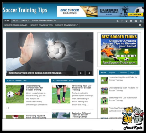 wordpress / soccer training turnkey blog - includes web hosting on our namecheap server