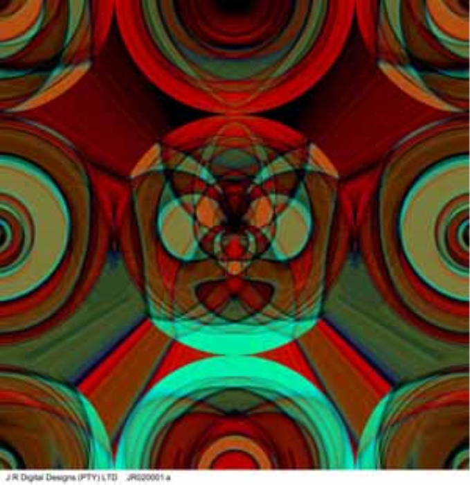 First Additional product image for - Prepared by J R Digital Designs, Abstract, 1x1m, JR020001a