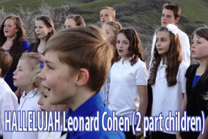Hallelujah (Leonard Cohen) for piano and 2 part children's choir with flute and more | Music | Children