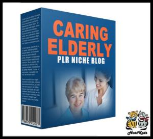 caring elderly plr niche blog