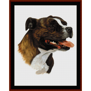 bull terrier ii - robt. j. may cross stitch pattern by cross stitch collectibles