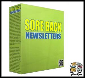 sore back plr newsletters - plr articles