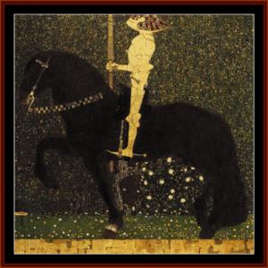 golden rider, 1903 - klimt cross stitch pattern by cross stitch collectibles