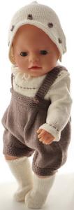 dollknittingpatterns 0186d fanny - kruippakje, trui, sjaaltje, pet en sokjes-(nederlands)