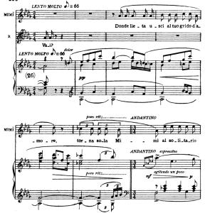 donde lieta usci (aria for soprano. g. puccini: la bohème,  vocal score (ricordi.1896), italian.