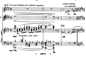 mi chiamano mimi, aria for soprano. g. puccini: la bohème,  vocal score (ricordi.1896), italian.
