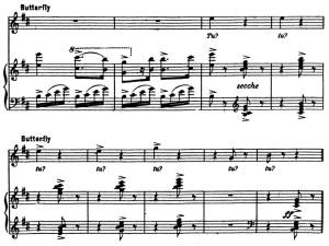 tu, tu, aria for soprano. g. puccini: madame butterfly, vocal score, ed. kalmus italian.
