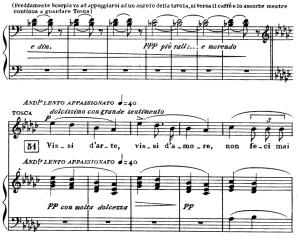 vissi d'arte, aria for soprano. g. puccini: tosca,  vocal score. ricordi, italian.