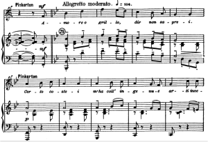 amore o grillo. aria for tenor, g. puccini, madame butterfly. ed. kalmus (schirmer reprint). vocal score, .italian.