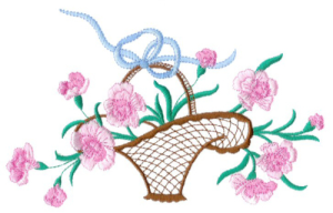 carnations embroidery collection dst