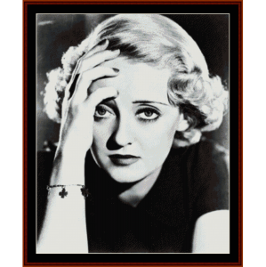 Bette Davis - Vintage Celebrity cross stitch pattern by Cross Stitch Collectibles | Crafting | Cross-Stitch | Wall Hangings