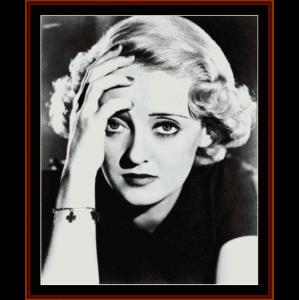 bette davis - vintage celebrity cross stitch pattern by cross stitch collectibles