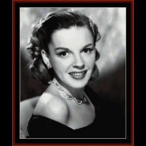 judy garland - vintage celebrity cross stitch pattern by cross stitch collectibles