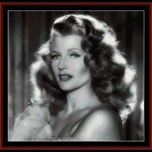 rita hayworth - vintage celebrity cross stitch pattern by cross stitch collectibles