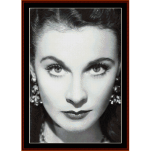 vivian leigh - vintage celebrity cross stitch pattern by cross stitch collectibles