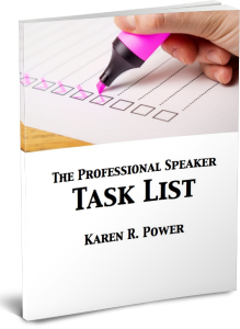 the professional speaker task list