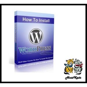 how to install wordpress - video plr