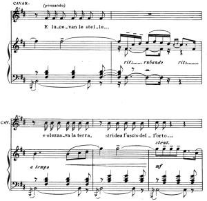 e lucevan le stelle, aria for tenor, g. puccini, tosca. vocal score, ed. ricordi. italian.