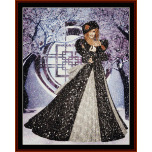 winter queen - fantasy cross stitch pattern by cross stitch collectibles