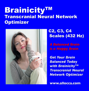 brainicitytm transcranial neural network optimizer - c2, c3, c4 (432 hz) scales