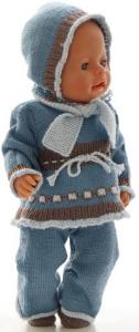 dollknittingpatterns 0187d mette - genser, bukse, skjerf, lue og sko-(norsk)