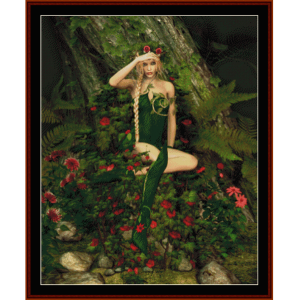 forest fae - fantasy cross stitch pattern by cross stitch collectibles