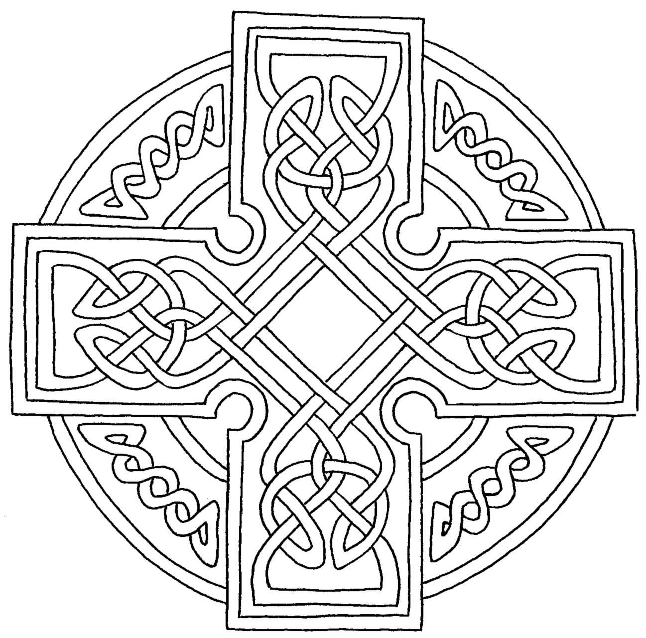 Celtic cross 1 other files arts and crafts for Celtic cross coloring pages