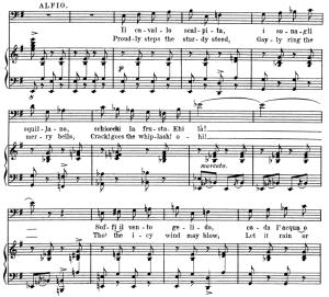 il cavallo scalpita. aria for baritone. p. mascagni: cavalleria rusticana, vocal score, ed. schirmer. 1891. italian/english