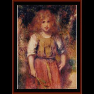 gypsy girl - renoir cross stitch pattern by cross stitch collectibles