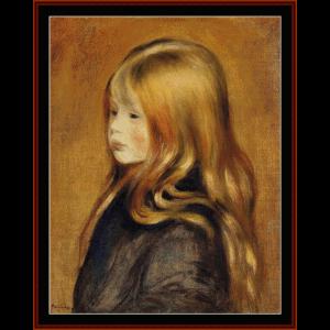 portrait of edmund - renoir cross stitch pattern by cross stitch collectibles