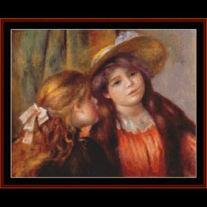 two girls, 1892 - renoir cross stitch pattern by cross stitch collectibles