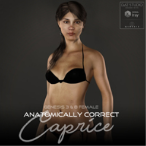 anatomically correct: caprice for genesis 3 and genesis 8 female