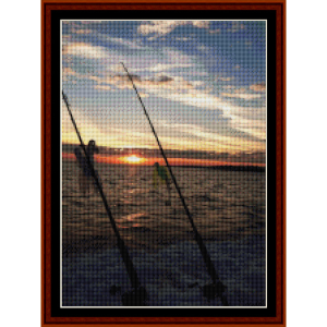 fishing - custom pattern by cross stitch collectibles