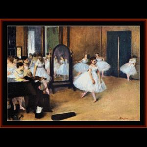 dance class, 1871 - degas cross stitch pattern by cross stitch collectibles