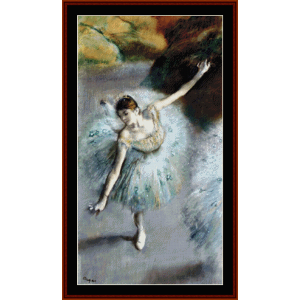 dancer in green, 1883 - degas cross stitch pattern by cross stitch collectibles