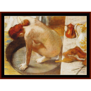 the tub, 1886 - degas cross stitch pattern by cross stitch collectibles