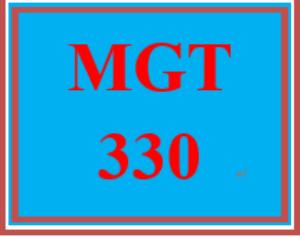 mgt 330 week 1 management fundamentals