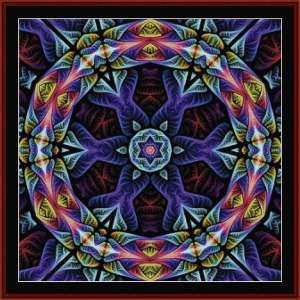 fractal 665 cross stitch pattern by cross stitch collectibles