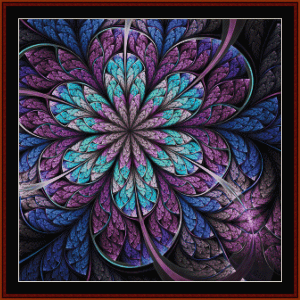 fractal 666 cross stitch pattern by cross stitch collectibles