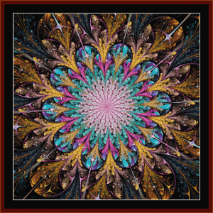 fractal 667 cross stitch pattern by cross stitch collectibles