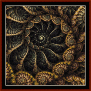 fractal 669 cross stitch pattern by cross stitch collectibles